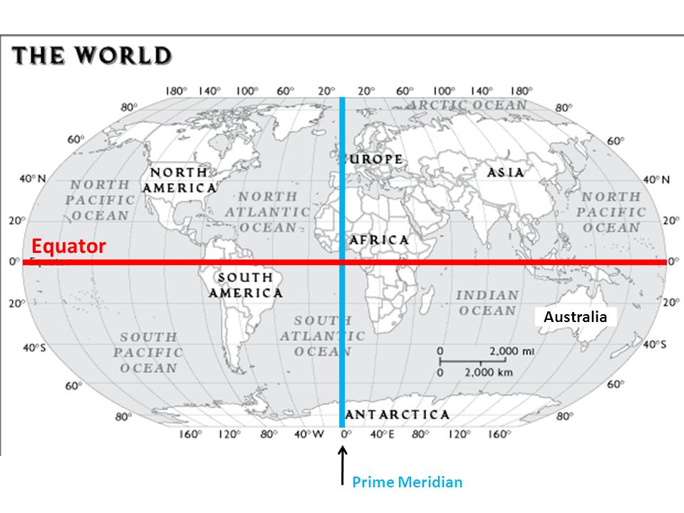 Australia Map Equator.World Geography Nw Ne Australia Sw Se Ppt Video Online Download