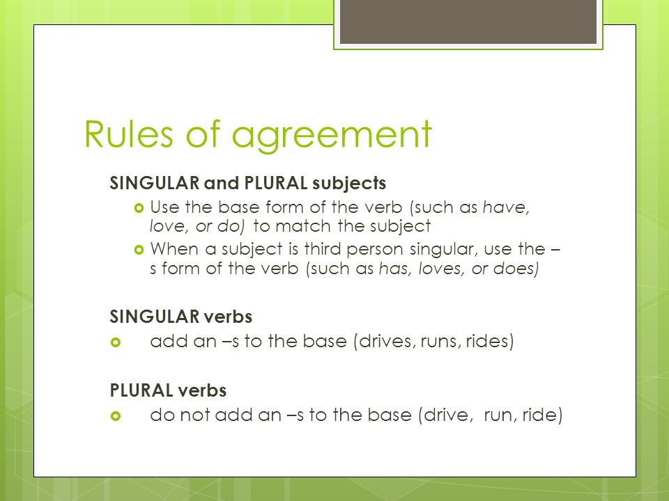 Subject Verb Agreement Ppt Download