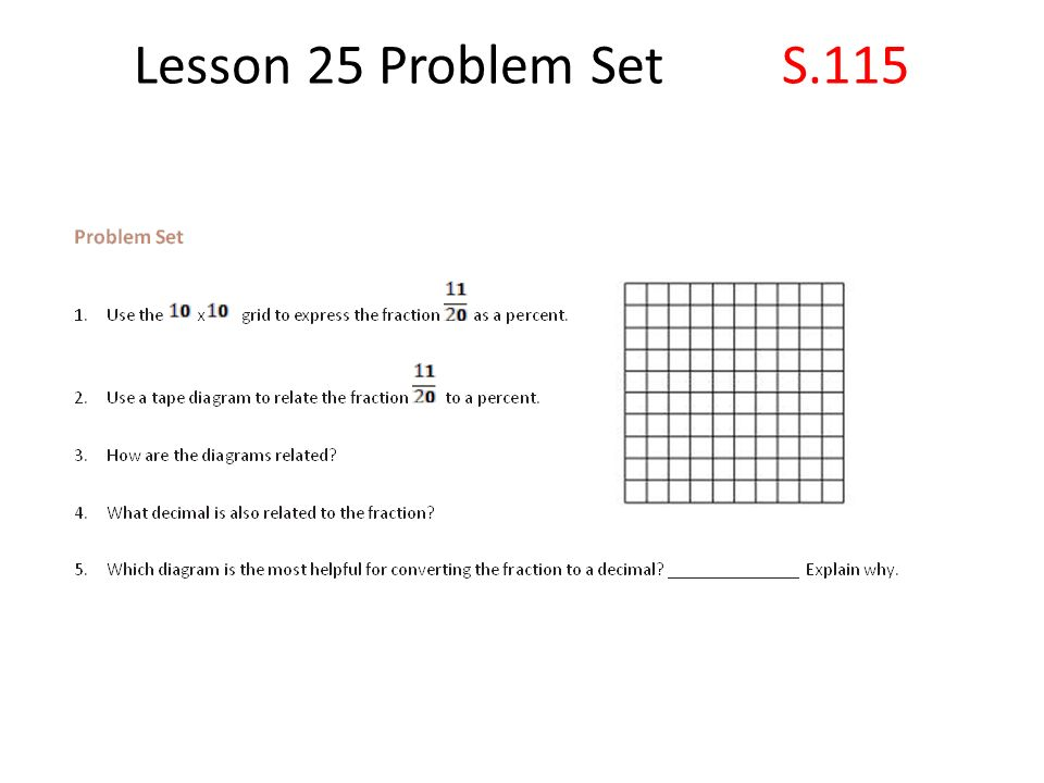 Lesson 25 S110 A Fraction As A Percent Ppt Video Online Download