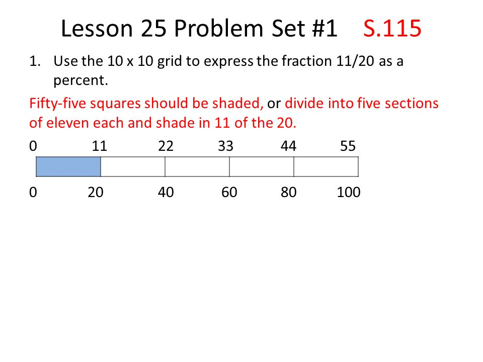 Lesson 25 S.110 A Fraction as a Percent. - ppt video online download
