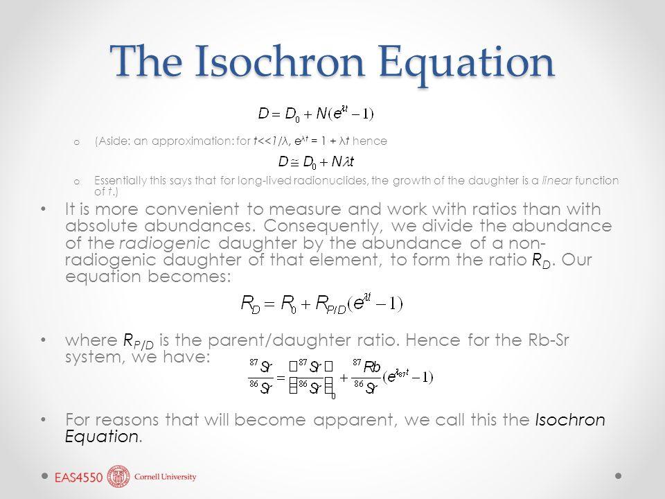 Isochron dating equation
