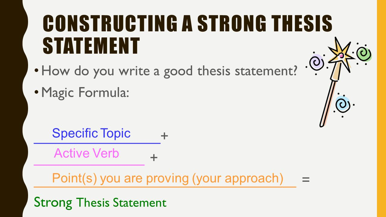 how to create a good thesis statement