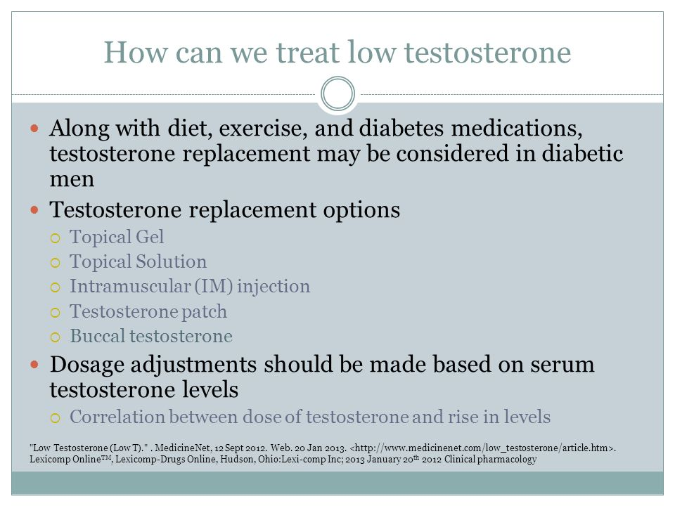 Testosterone and Diabetes - ppt video online download