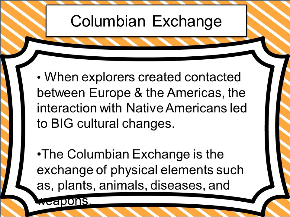 conclusion for columbian exchange In conclusion, the columbian exchange brought both positive and negative influences on the whole population of earth thus, the significant increase of different sorts of products, animals and metal suppliers are regarded as the positive ones.
