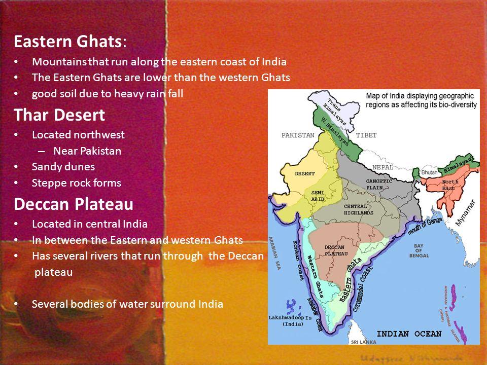 mountains along the east coast of india