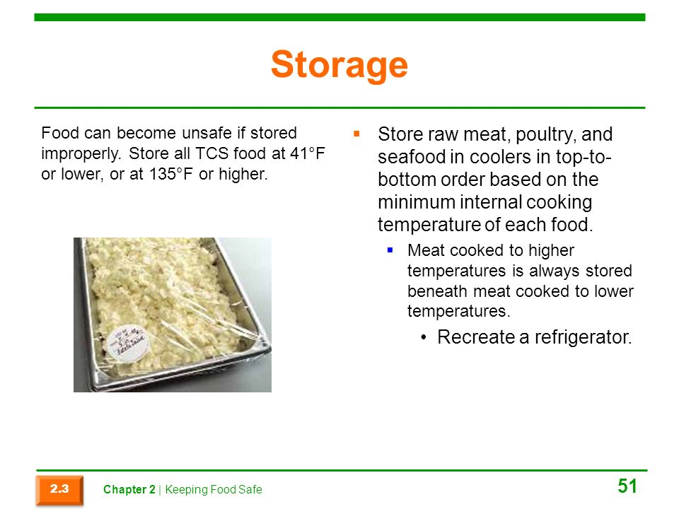 Which Storage Method May Cause Tcs Food To Become Unsafe Awesome ProStart Obj 66060 Pt 60 Keeping Food Safe Ppt Download