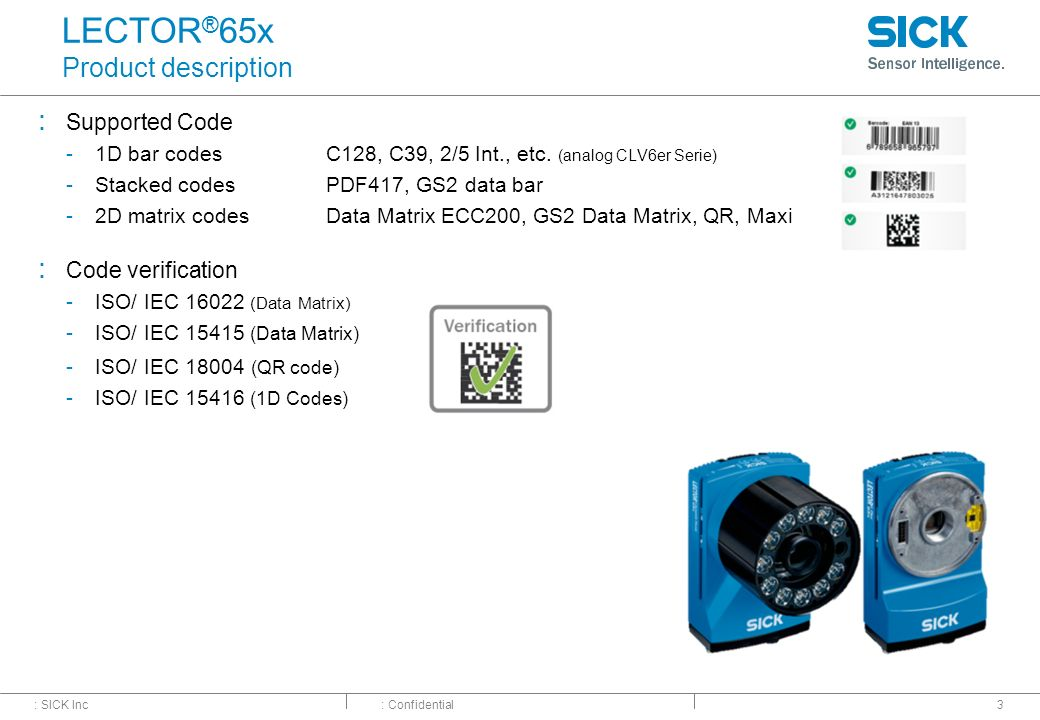 LECTOR®65x Image-based Code Reader– Market Launch - ppt video online