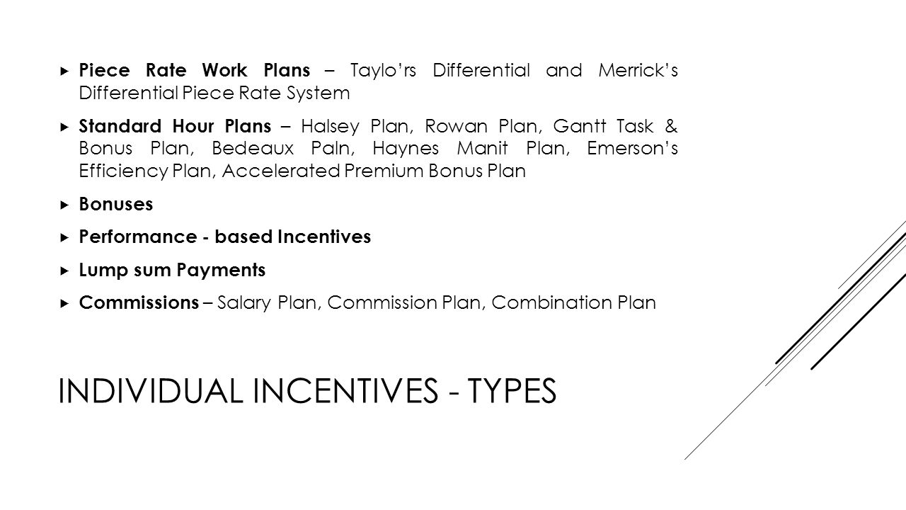 Incentive Plans  - ppt video online download