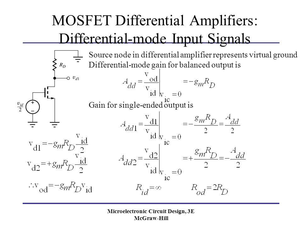 Chapter 15 Differential Amplifiers and Operational Amplifier