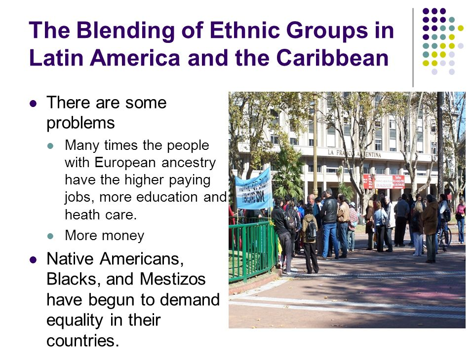 ethnic group latin americans essay Being a member of an ethnic group, especially of a group that is a minority within a larger society: ethnic chinese in san francisco of, relating to, or characteristic of members of such a group belonging to or deriving from the cultural, religious, or linguistic traditions of a people or country: ethnic.