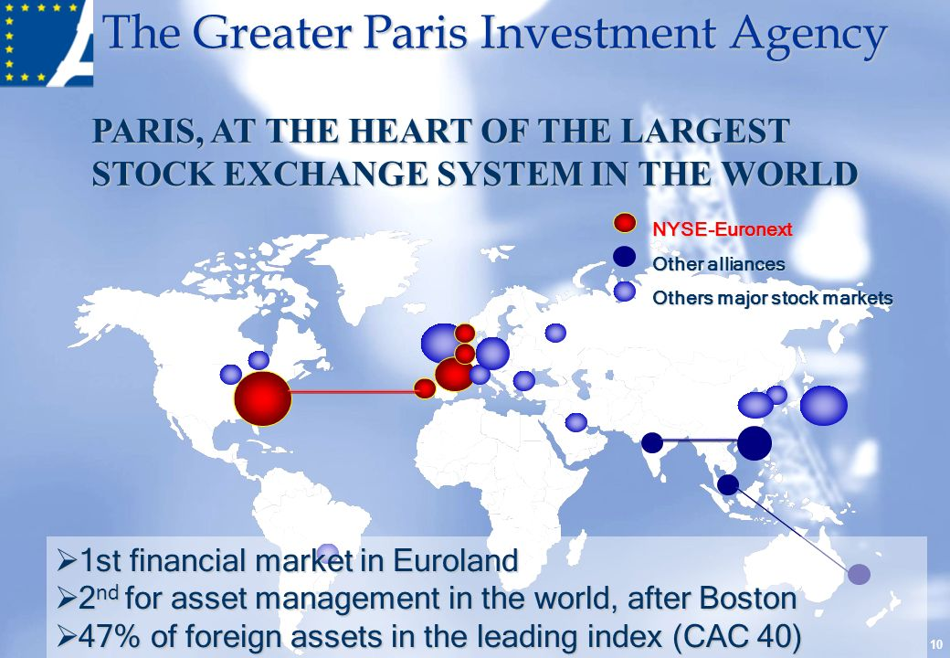 PARIS, AT THE HEART OF THE LARGEST STOCK EXCHANGE SYSTEM IN THE WORLD