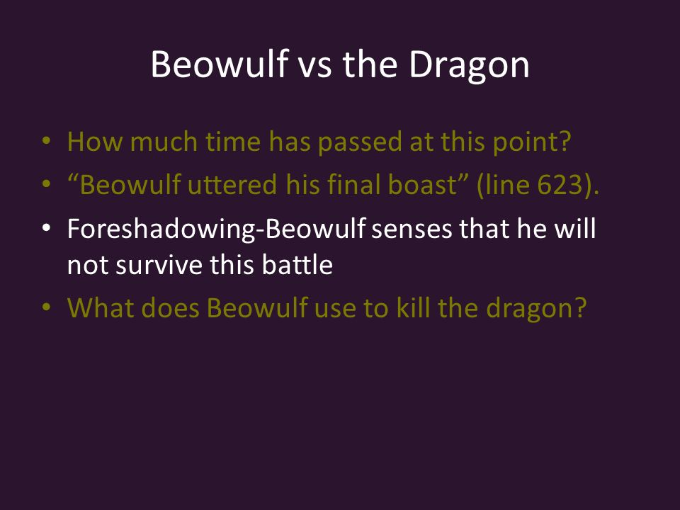 boasting in beowulf essay Essay preview marie nelson's beowulf's boast words evaluates the numerous acts of boasting that occur in beowulf, dividing them into two subcategories the choice of categories of boasting are determined by when the events have occurred or will occur the first type of boasting refers to the.