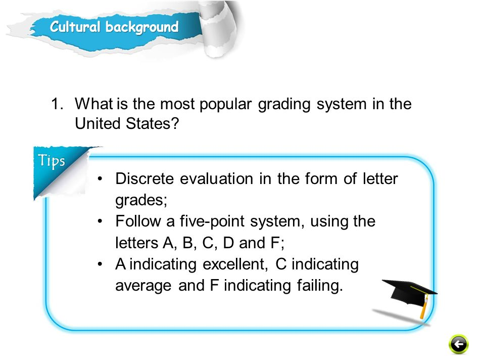 What is the most popular grading system in the United States