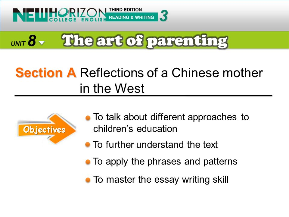 Section A 3 8 The art of parenting Reflections of a Chinese mother