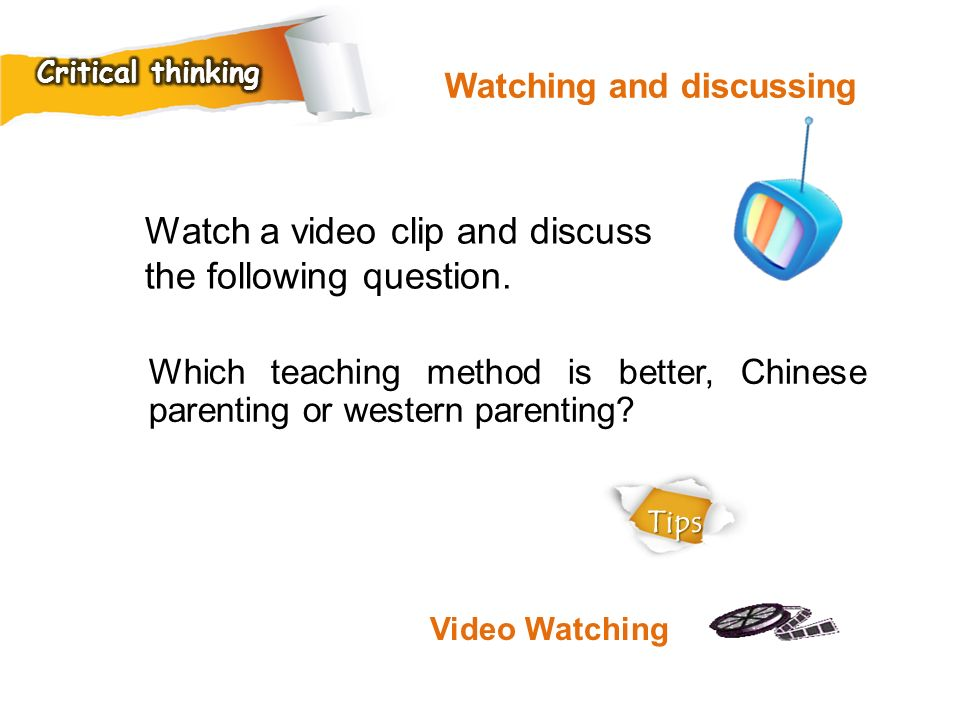 Watch a video clip and discuss the following question.
