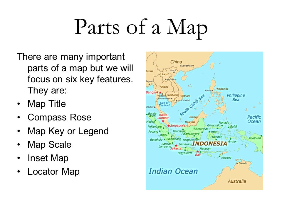 Parts Of A Map Parts of a Map.   ppt download Parts Of A Map