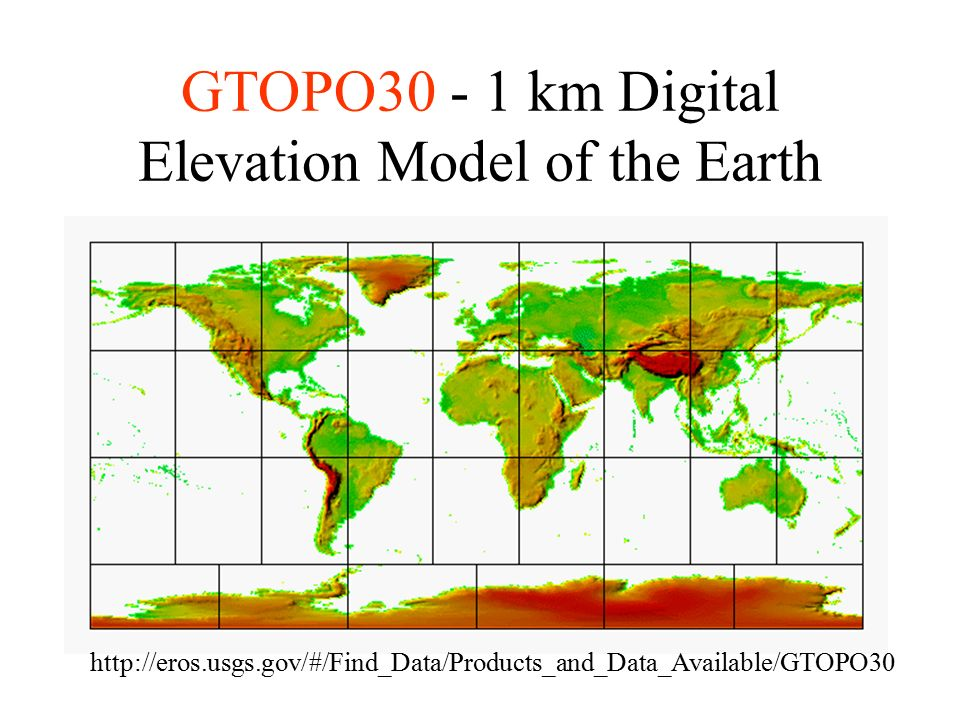 Data Sources for GIS in Water Resources by David R  Maidment