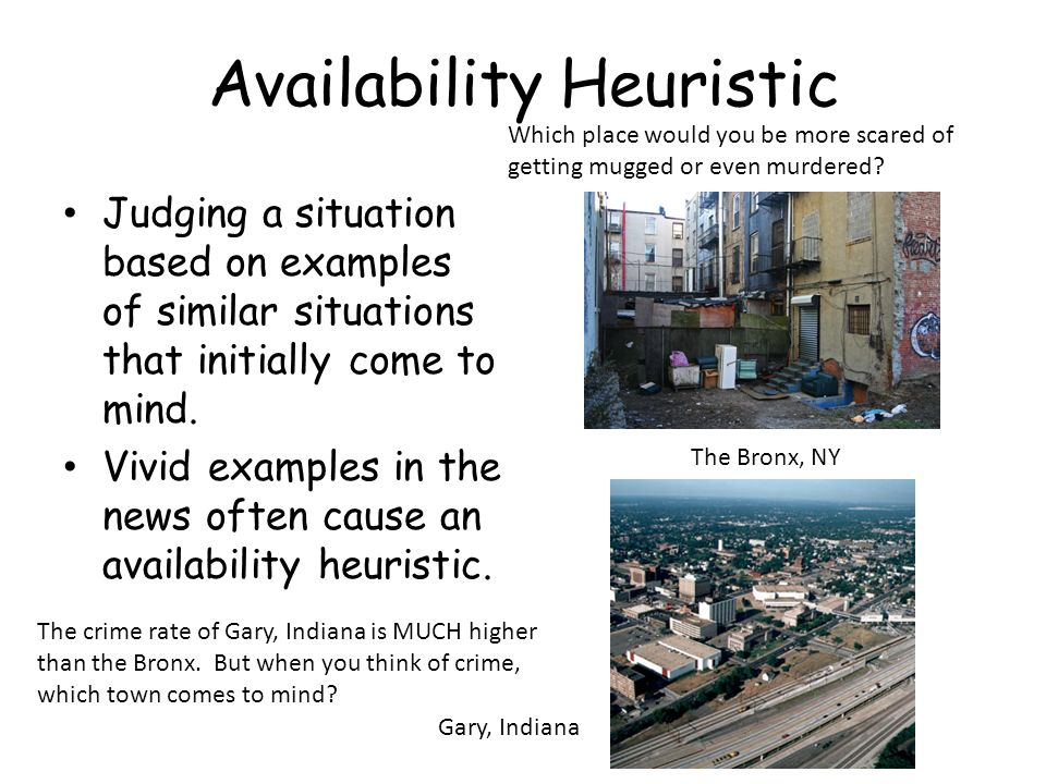 All about the availability heuristic with examples www. Kidskunst.