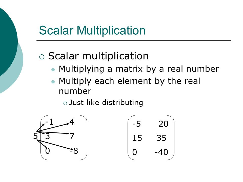 Operations With Matrices Multiplication Ppt Download
