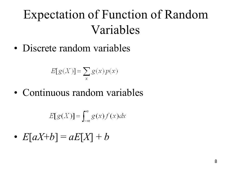 Random variable expectation infinity