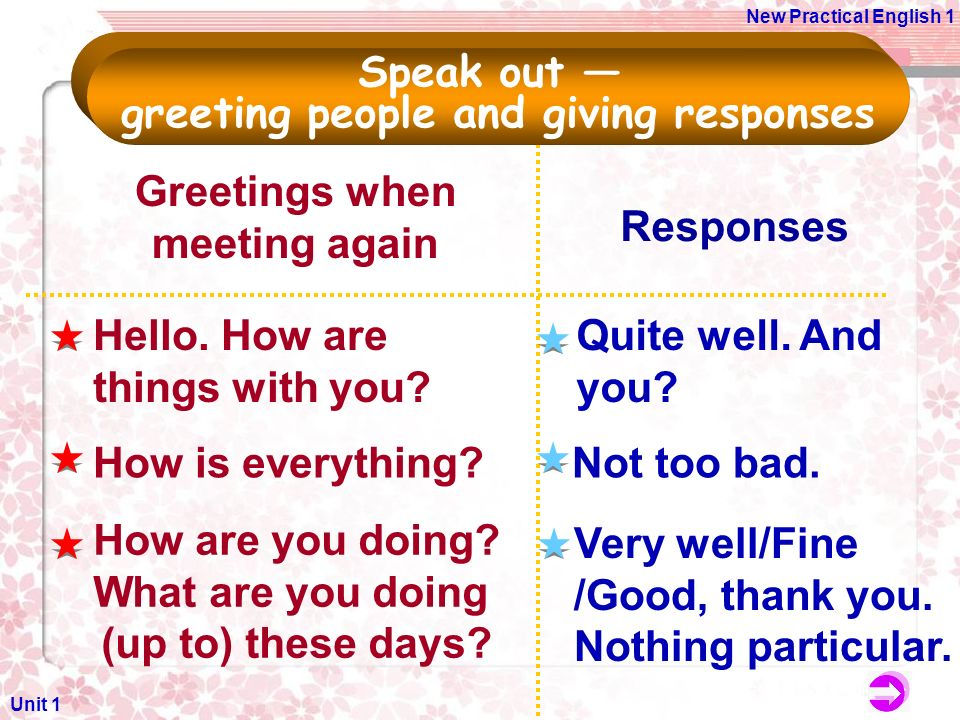 Unit 1 greeting and introducing people ppt video online download 6 greeting m4hsunfo