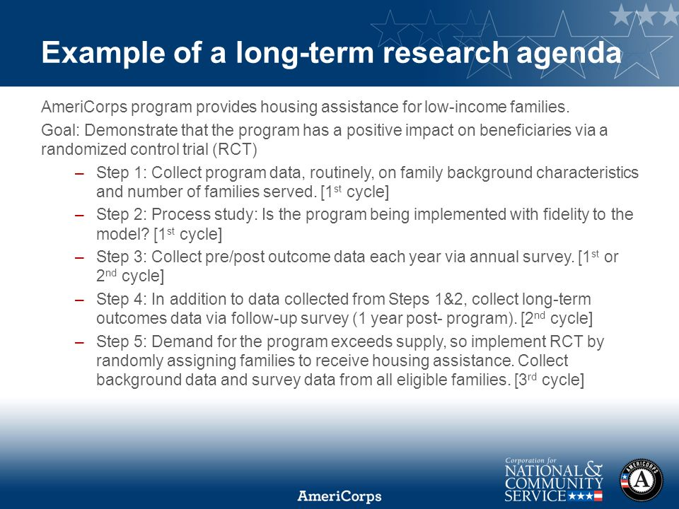 Using Evaluation Results and Building a Long-Term Research Agenda ...