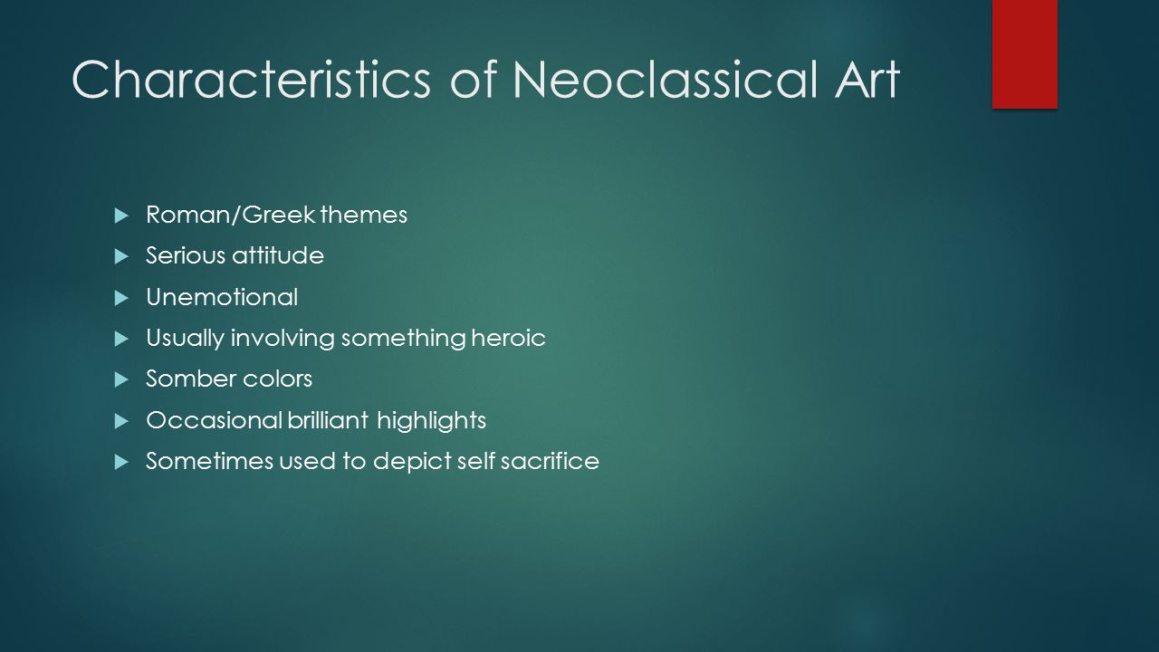 neoclassical painting characteristics