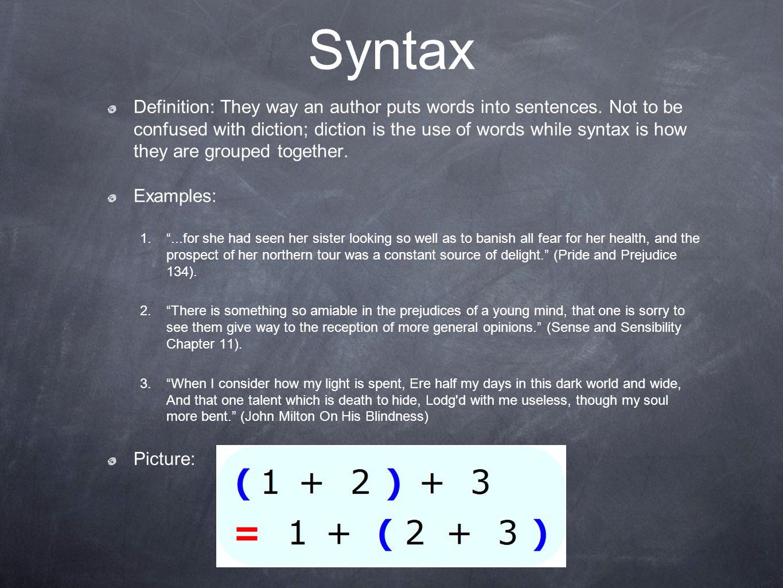 syntax definition literature