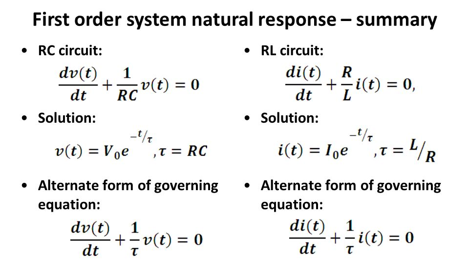 lecture 17 review rl circuit natural response ppt video online rh slideplayer com