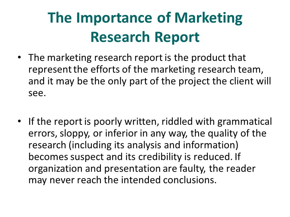 15 The Research Report  - ppt video online download