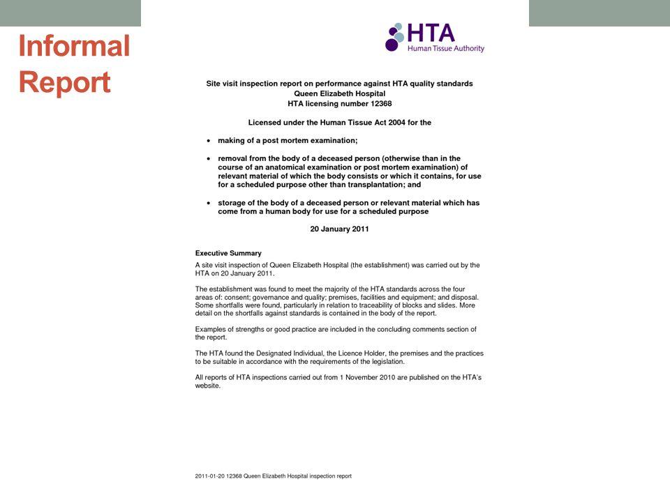 10 informal reports