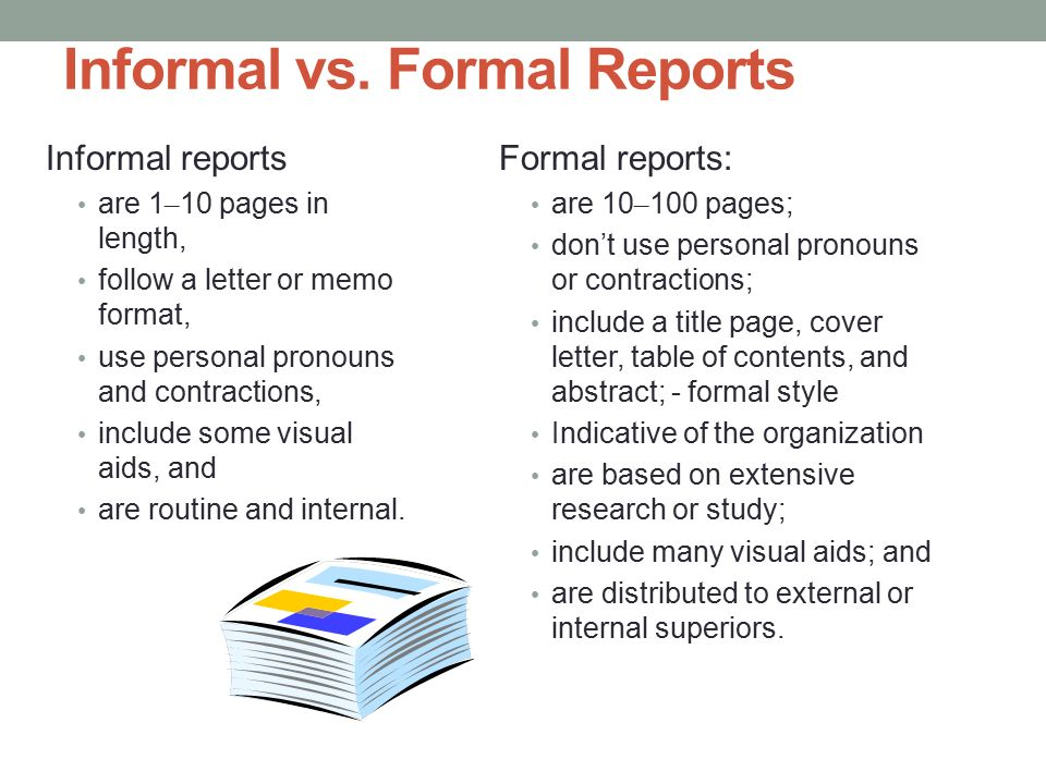 10 Informal Reports Ppt Video Online Download