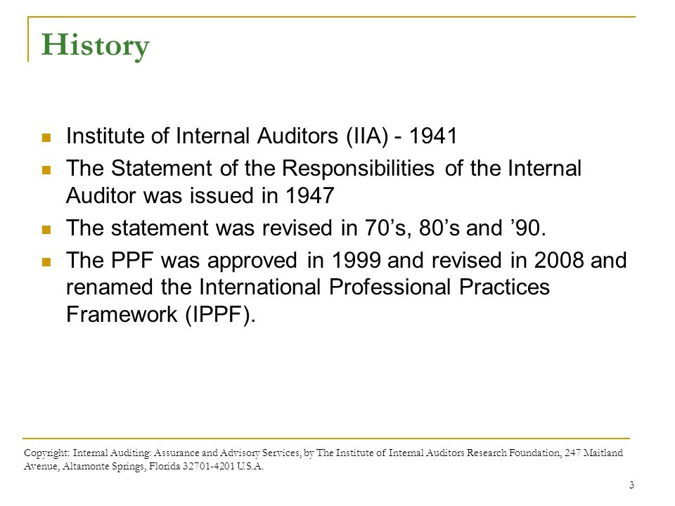 Chapter 2 the international professional practices framework 3 history institute of internal auditors fandeluxe Image collections