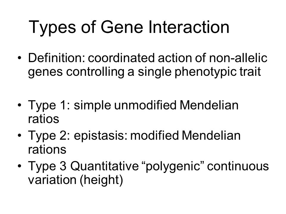 allelic and nonallelic interactions