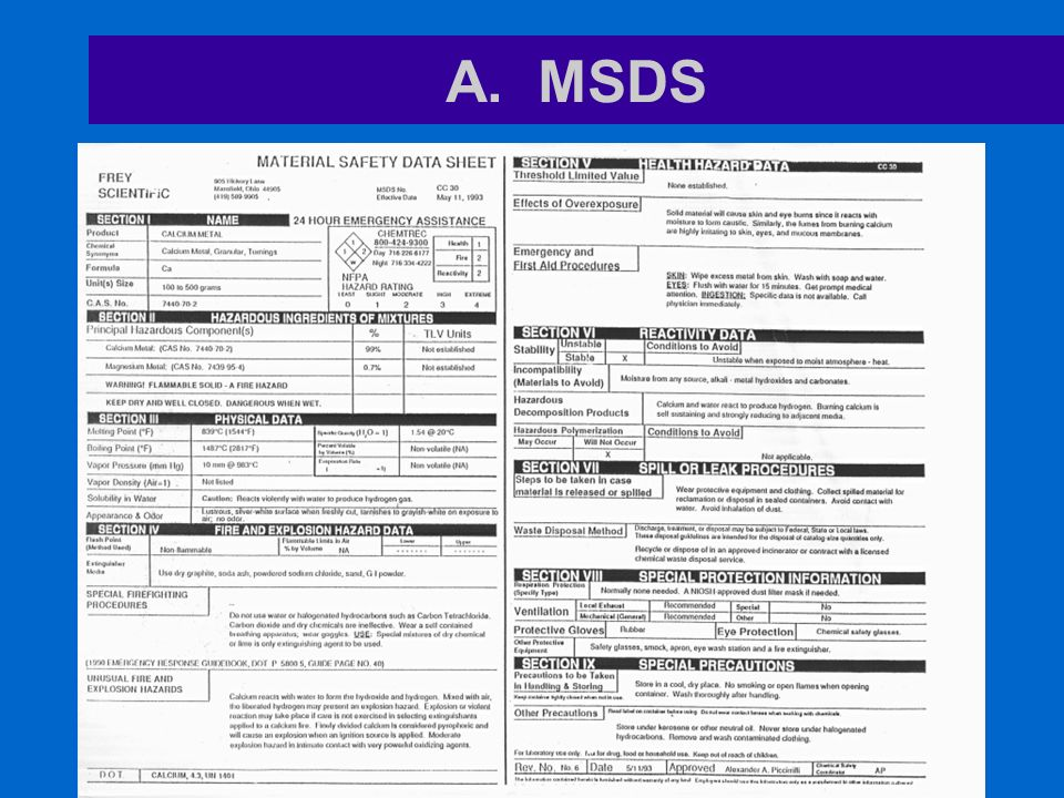 Msds Chemical Hazard Label Activity Worksheet Ppt Video Online