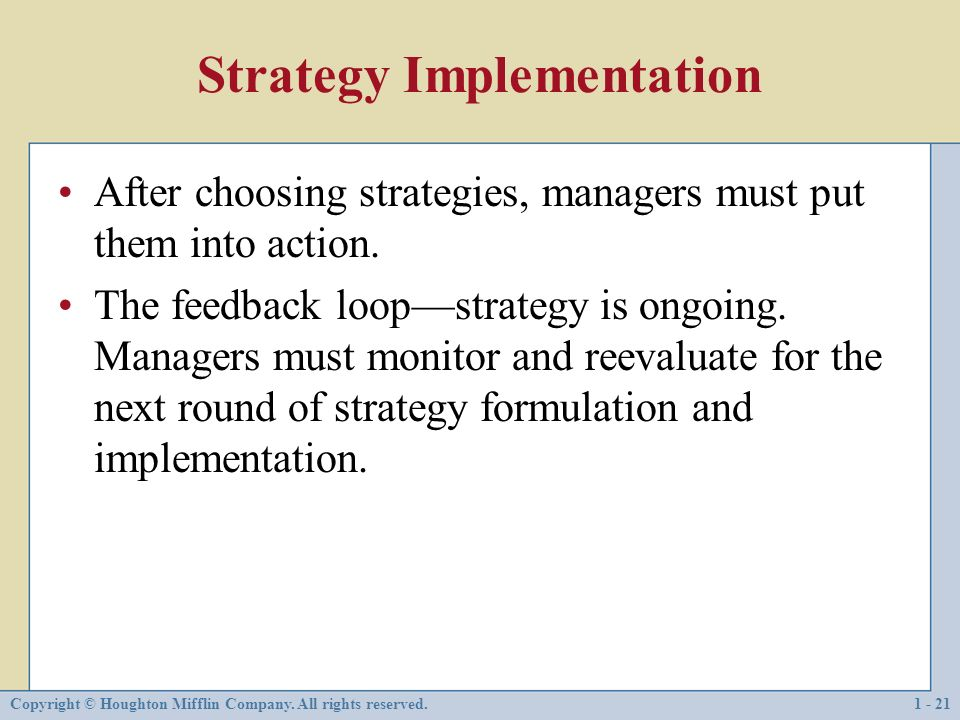 The Strategic Management Process - ppt download