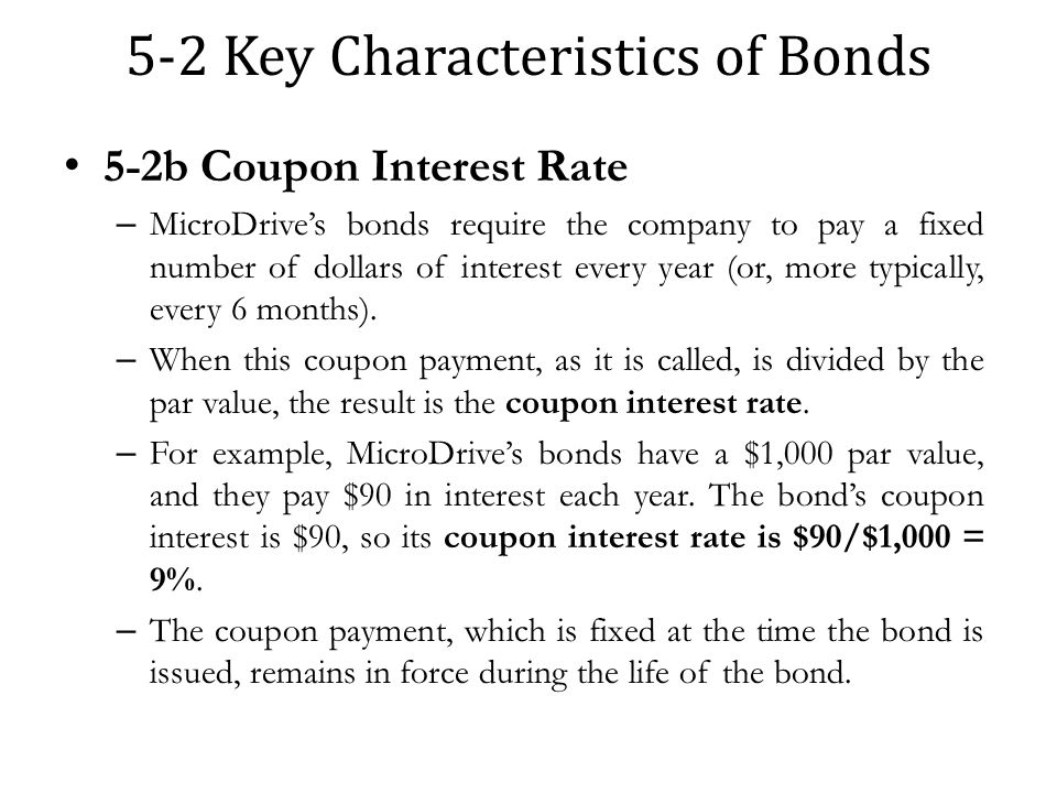 5 2 Key Characteristics Of Bonds