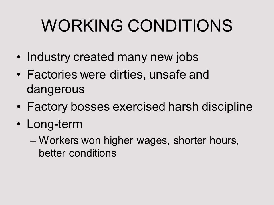 long term effects of the industrial revolution