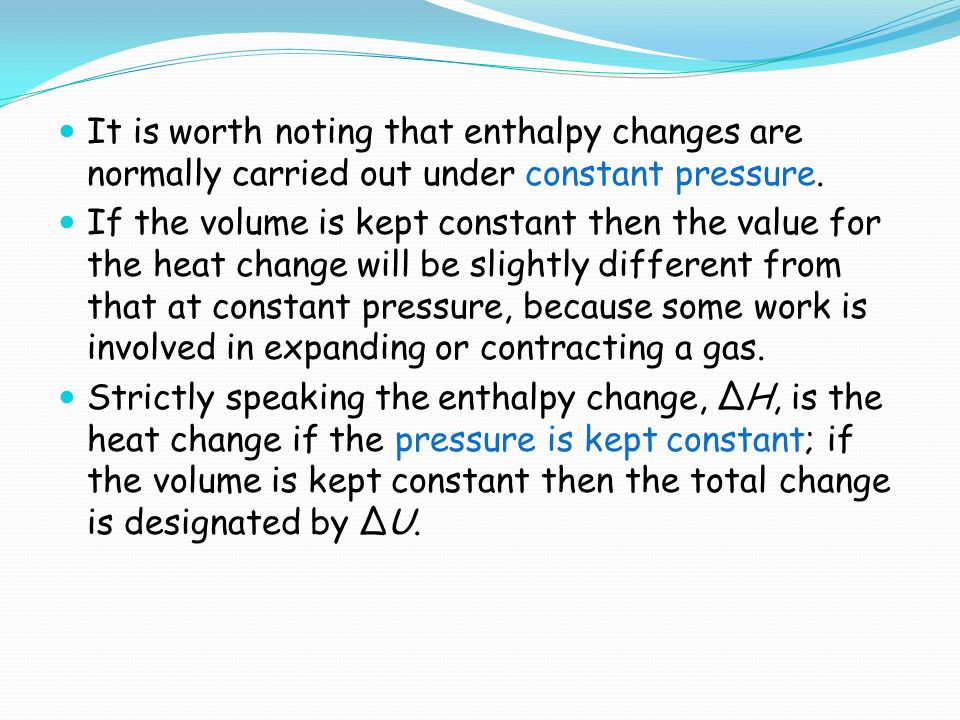 how to work out enthalpy change