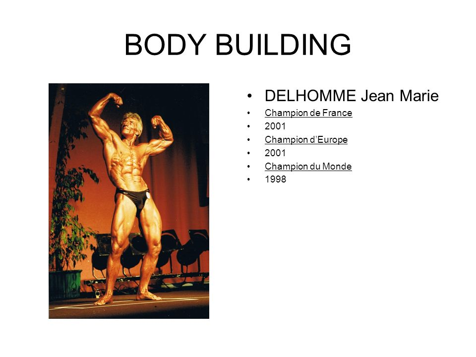 BODY BUILDING DELHOMME Jean Marie Champion de France 2001