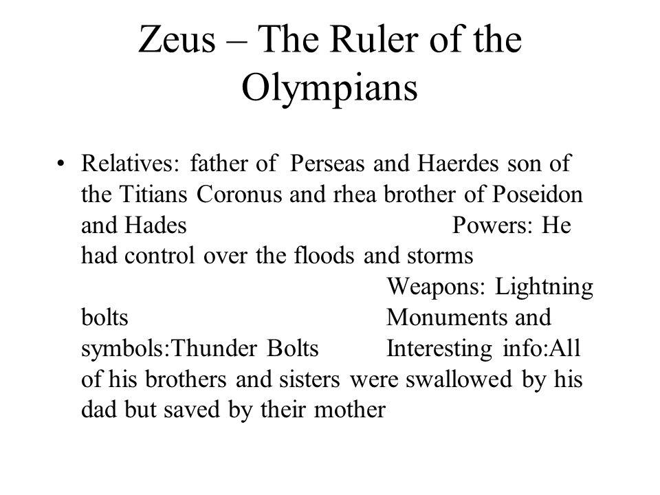 Greek Mythology Zeus Hades Poseidon Apollo Ppt Download