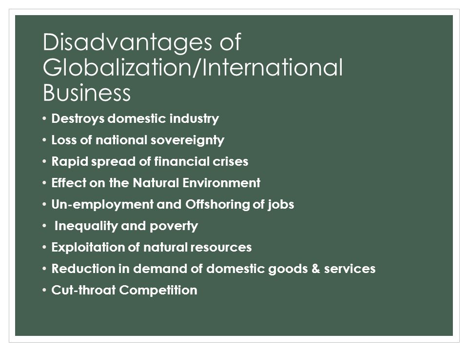 effect of globalization on international business