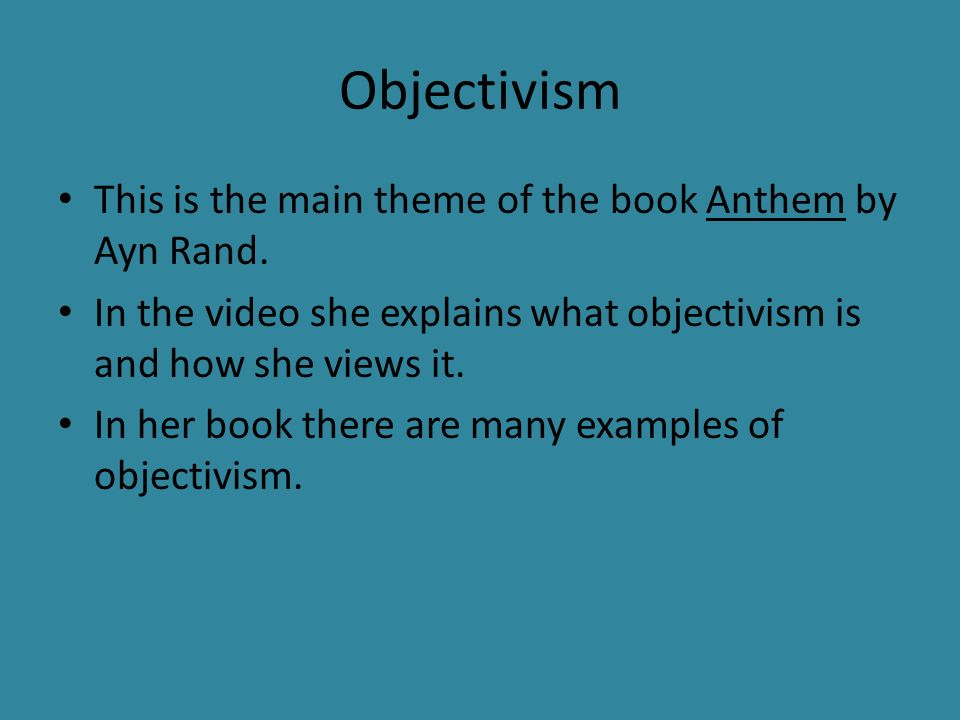Anthem By Ayn Rand Ppt Download