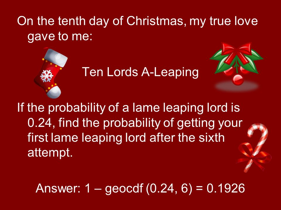 11 on - When Is The First Day Of Christmas