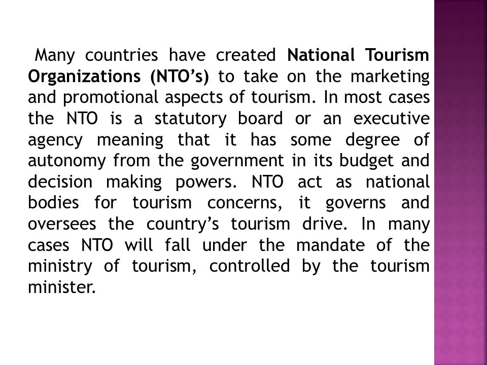 national tourism agency