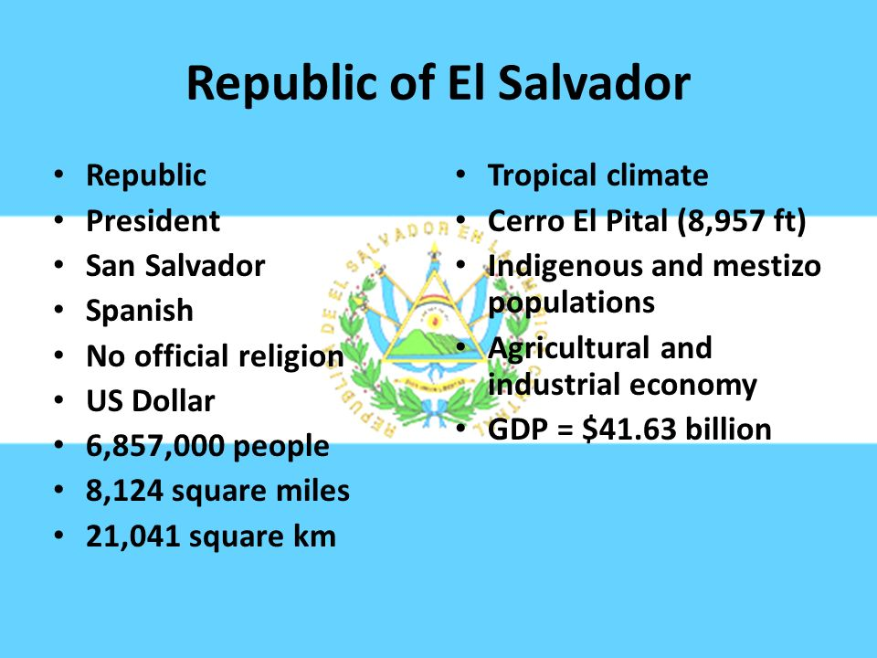 Central america a review ppt video online download republic of el salvador freerunsca Image collections