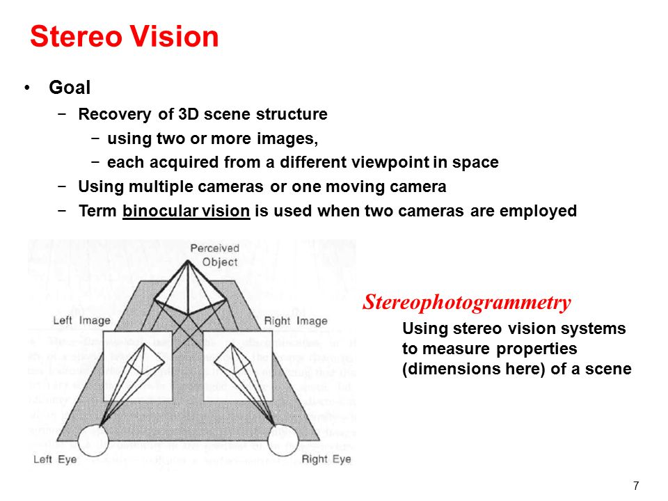 Stereo Vision John Morris Vision Research in CITR - ppt
