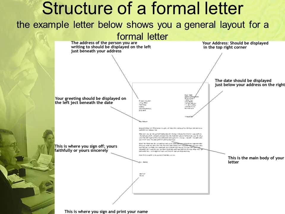 how to write formal letters 2 structure
