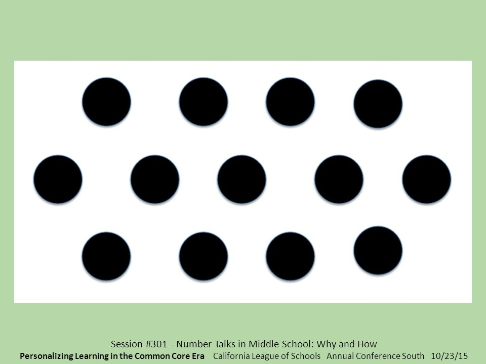 Session 301 Number Talks In Middle School Why And How Ppt