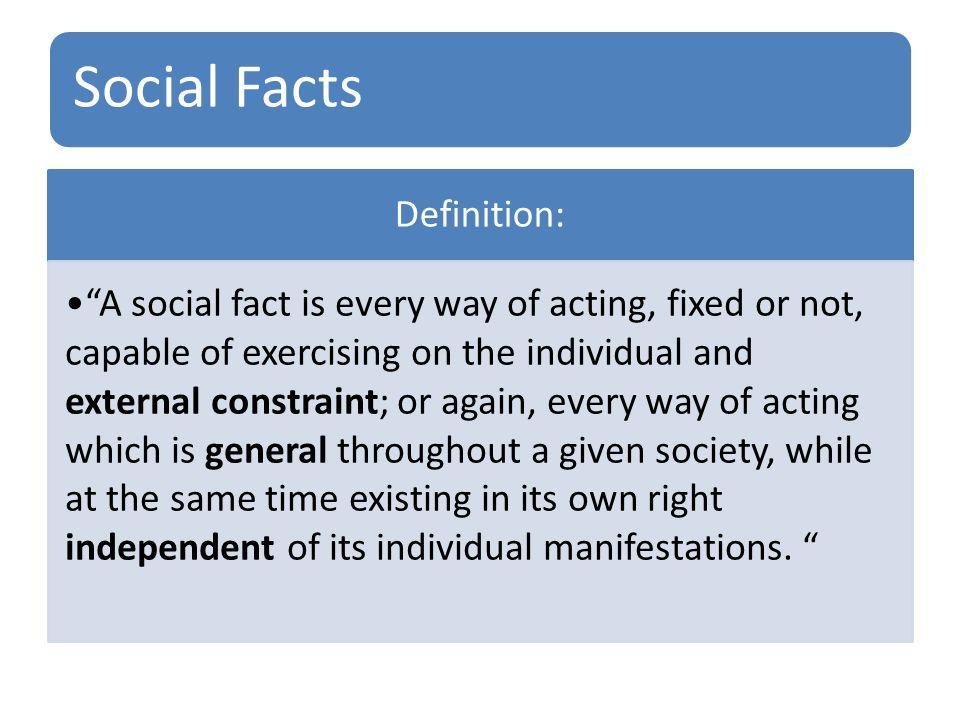 social facts durkheim definition